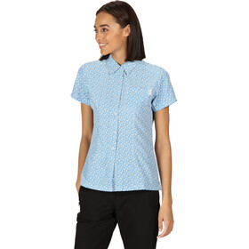 Regatta Mindano V T-Shirt Dames, blue aster print